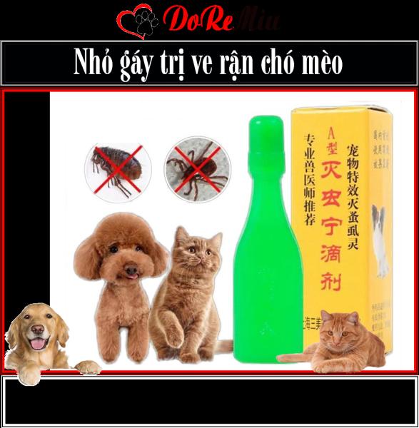 Doremiu- Nhỏ rận Trung quốc 25ml (nhỏ gáy trị ve trận thú cưng) dùng cả cho mèo con và chó nhỏ