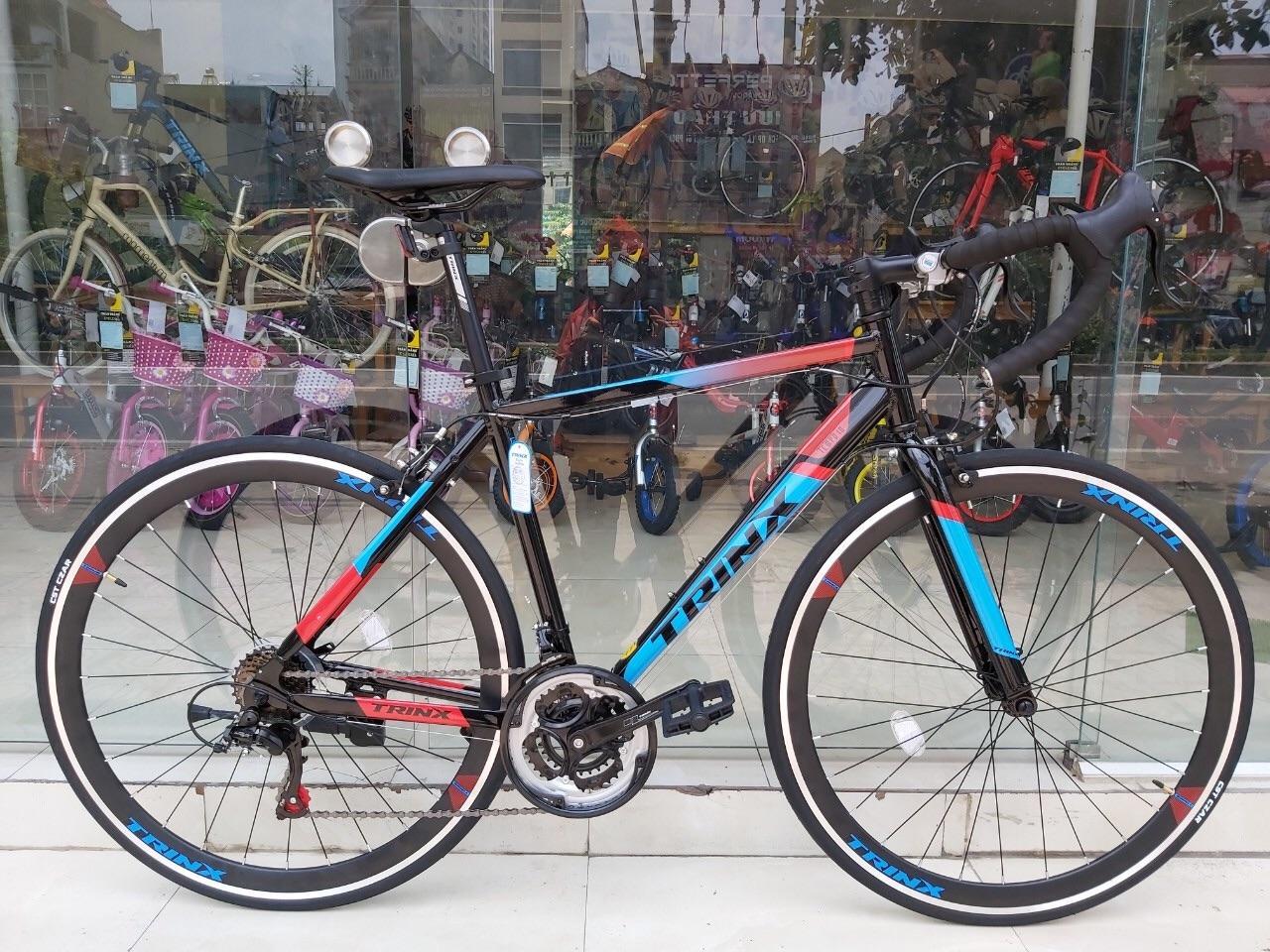 Mua Xe đạp đua TRINX TEMPO1.0 2019 Đen đỏ xanh dương