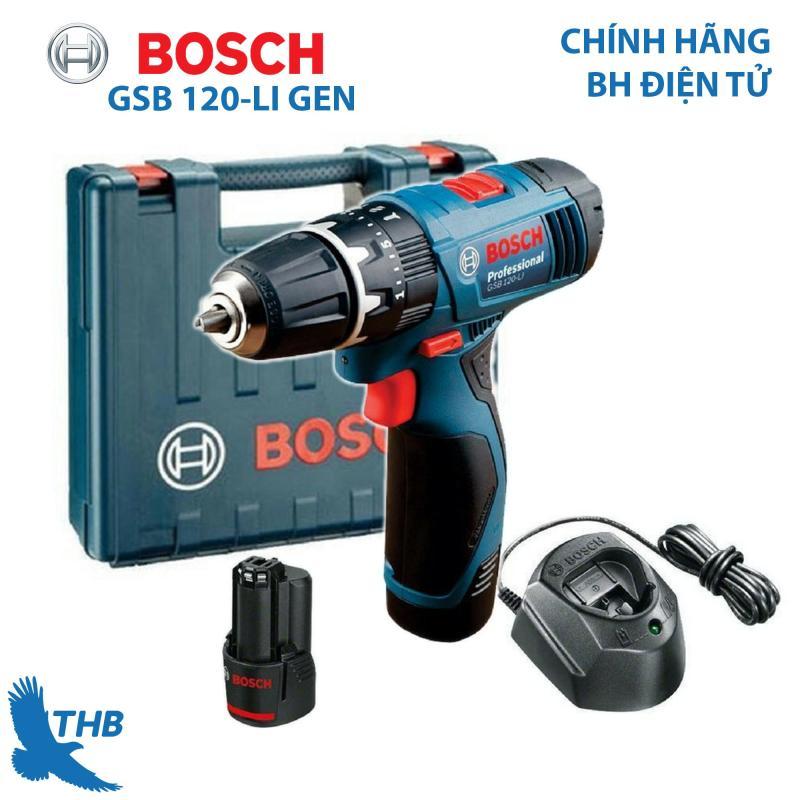 Máy khoan bắt vít Máy khoan động lực dùng Pin Bosch GSB 120-LI NEW 2 Pin 12V xuất xứ Malaysia bảo hành điện tử 06 tháng