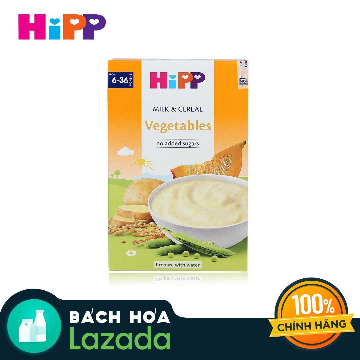 Bột sữa và ngũ cốc rau củ tổng hợp HiPP 250g ( dành cho trẻ từ 6 - 36 tháng tuổi)