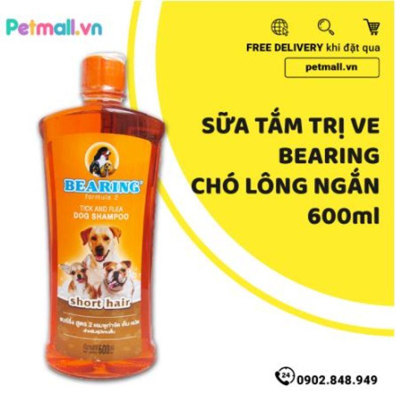 Sữa tắm trị ve BEARING Chó lông ngắn 600ml - nhập Thái