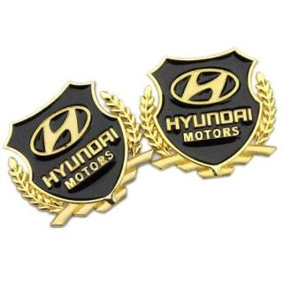 BỘ 2 Huy hiệu logo bông lúa cho ô tô Huyndai thumbnail