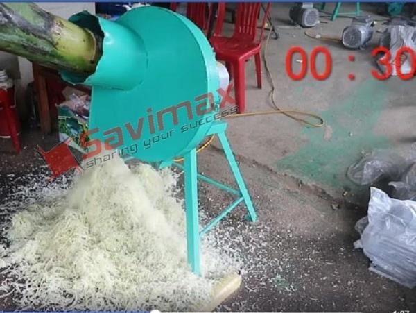 Máy thái chuối siêu mịn tại Bến tre- Máy băm chuối mịn 1.5kw siêu khỏe
