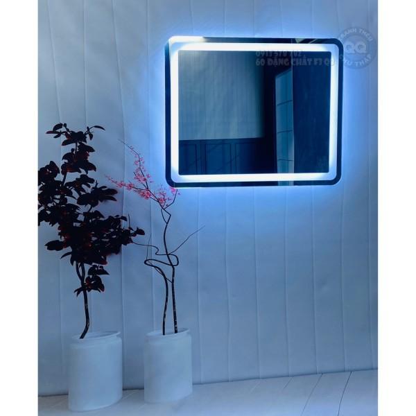 Gương trang điểm treo tường đèn led bắn cát