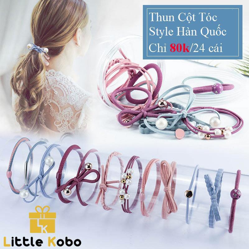 Giá bán Thun Cột Tóc Hàn Quốc Hộp 24 Cái