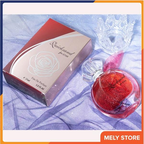 Nước hoa nữ thơm lâu Quicksand Paris hương thơm tươi mát, nữ tính mang lại hương thơm suốt ngày dài hoạt động, mùi thơm ngọt dịu nhẹ, quyến rũ, nhẹ nhàng, nước hoa nữ cao cấp chính hãng giá rẻ dạng xịt 55ml Melystore PN014 giá rẻ