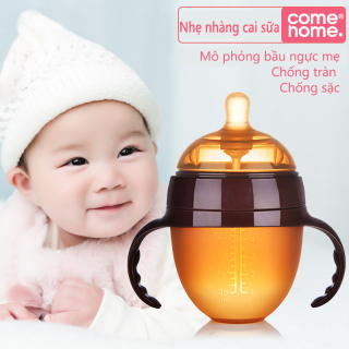 Bình sữa Come Home Silicone 150ml và 250ml bình sữa Silicone an toàn dẻo mềm mại cho bé từ 0-3 tuổi không chứa BPA thumbnail