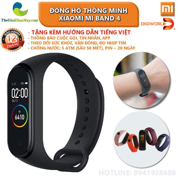 [Bản quốc tế] Đồng hồ thông minh Xiaomi Mi band 4 có tiếng việt Smart watch miband 4 - Bảo hành 12 tháng - Shop Thế Giới Điện Máy