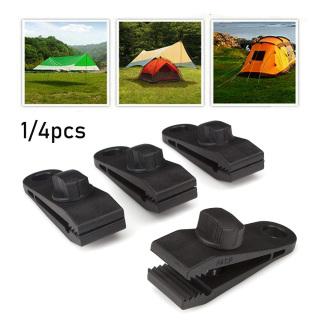 1 4Pcs Nhựa Caravan Hàm Grip Ngoài Trời Trại Kit Kẹp Tấm Bạt Clip Móc Kẹp Chống Gió Giá Đỡ Lều Cắm Trại Vải Thắt Chặt Công Cụ thumbnail