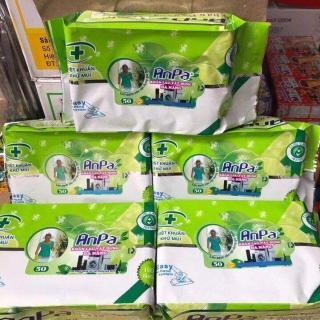Khăn ướt lau đa năng Anpa - CAVALI - Túi 50 miếng khăn lau diệt khuẩn khử mùi thumbnail