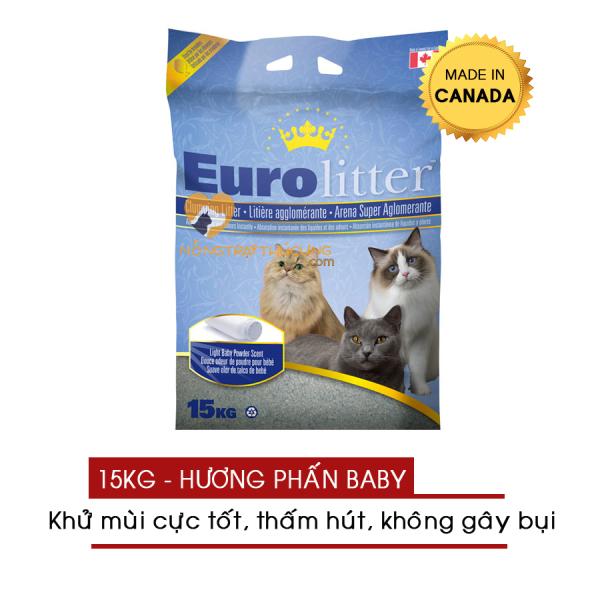 Cát Vệ Sinh Cho Mèo EURO LITTER 15kg (Made In Canada) - [Nông Trại Thú Cưng]
