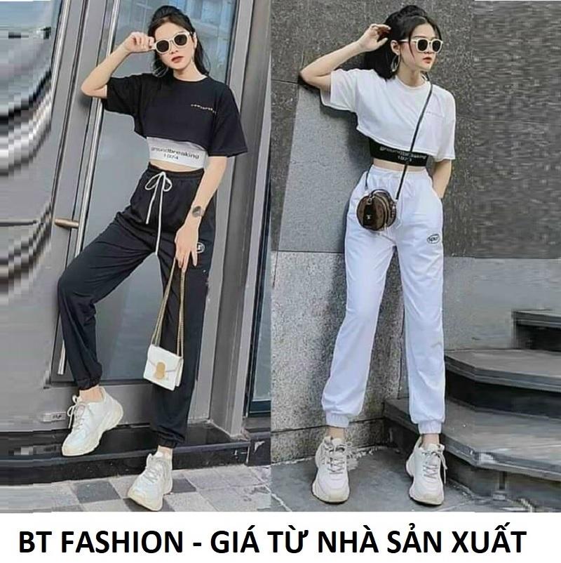 Quần Thể Thao Jogger Nữ Thời Trang Hot BT Fashion (SPUN TT02) + Hình thật, Video + Chọn bên dưới để mua thêm Áo