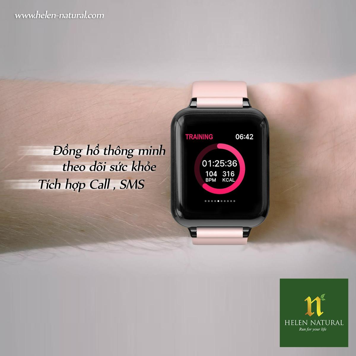 Đồng hồ thông minh theo dõi sức khỏe Helen Natural