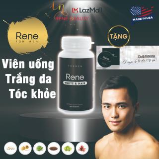 Viên uống trắng da cho Nam Rene White & Hair [da trắng & tóc khỏe]-Tặng kèm Phấn Nước Daily Rene Air Cushion CC Cream SPF 50PA+++ thumbnail