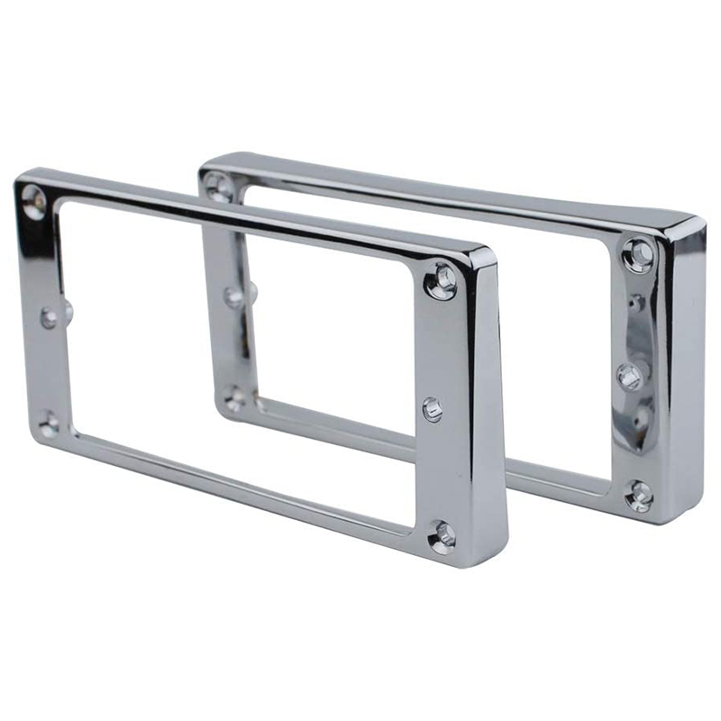 Pickup Mounting Ring Kit-Pickup Cover Replacement Parts, Suitable for Les Paul Electric Guitars (2PCS, Chrome Plated) Malaysia