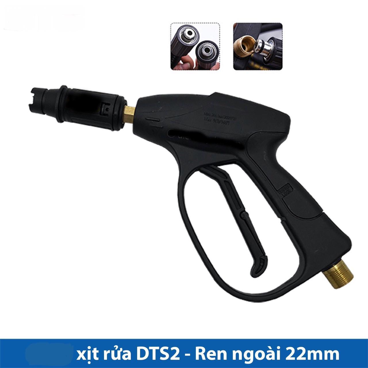 Vòi rửa xe cho máy xịt rửa áp lực cao -lắp được bình bọt, đầu loe 22mm