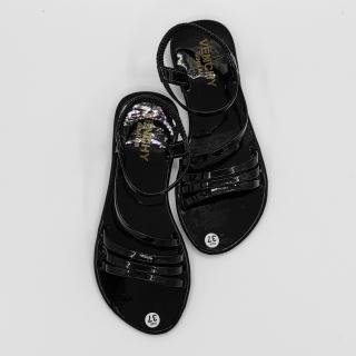 Giày sandal nữ Bevis - quai simili 3 dây ngang hợp thời trang - đế cao su nhẹ nhàng êm ái BE175-1 (Đen) thumbnail