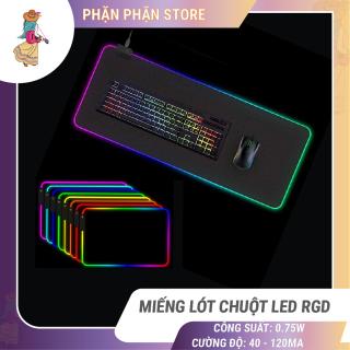 [HCM]Miếng lót chuột LED RGB Sharkoon bàn di chuột led 7 màu đơn và 3 hiệu ứng ánh sáng chống trượt Phặn Phặn thumbnail