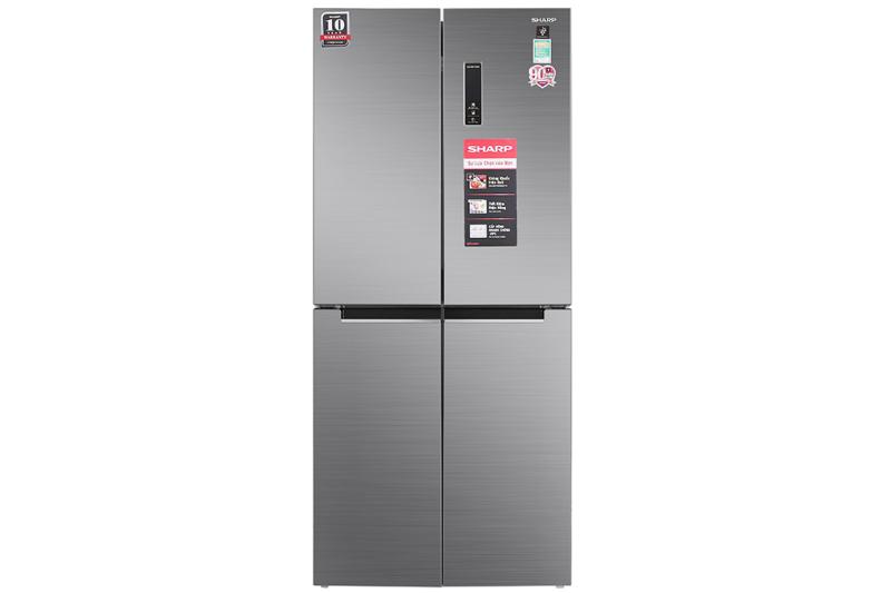 Tủ lạnh Sharp Inverter 556 lít SJ-FX630V-ST - Tiện ích:Làm lạnh nhanh, Làm đá nhanh, Inverter tiết kiệm điện, Ngăn đá lớn, Chuông báo cửa mở, Bảng điều khiển bên ngoài. Hệ thống làm lạnh kép Hybrid Cooling