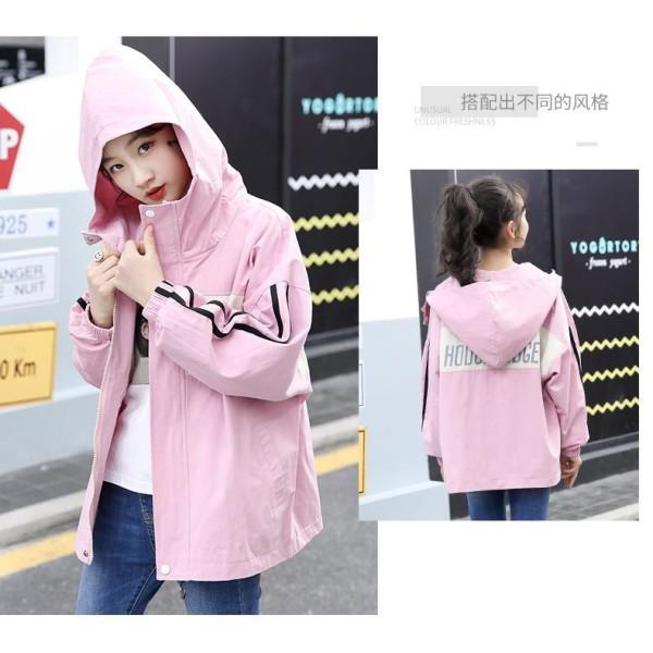 Giá bán áo khoác gió bé gái Unisex chất liệu dù lót thun cotton từ 5 đến 14 tuổi D332