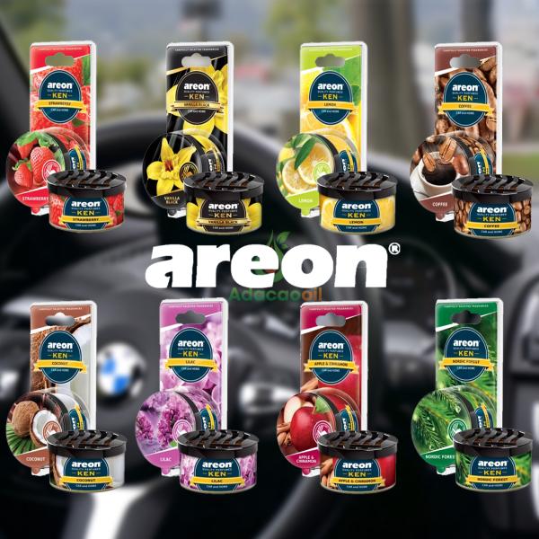 Sáp thơm ô tô Areon, nước hoa xe hơi cao cấp, giúp khử mùi, thư giãn lái xe, nhập khẩu Châu Âu