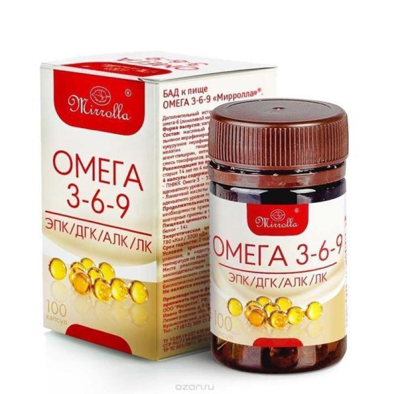 Viên uống Omega 3 6 9 Mirrolla Nga tốt cho tim mạch và não bộ nhập khẩu