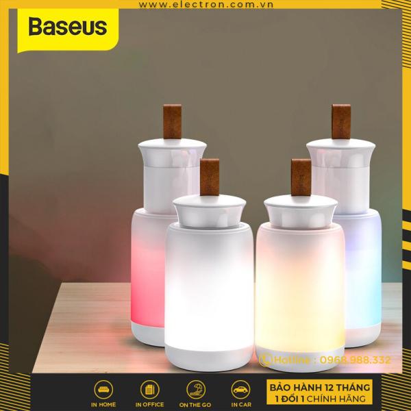 Đèn mini pin sạc tiện dụng Baseus starlit Night Car Emergency Light (500mAh Rechargeable, 4 Light Mode, Magnetic Holder)
