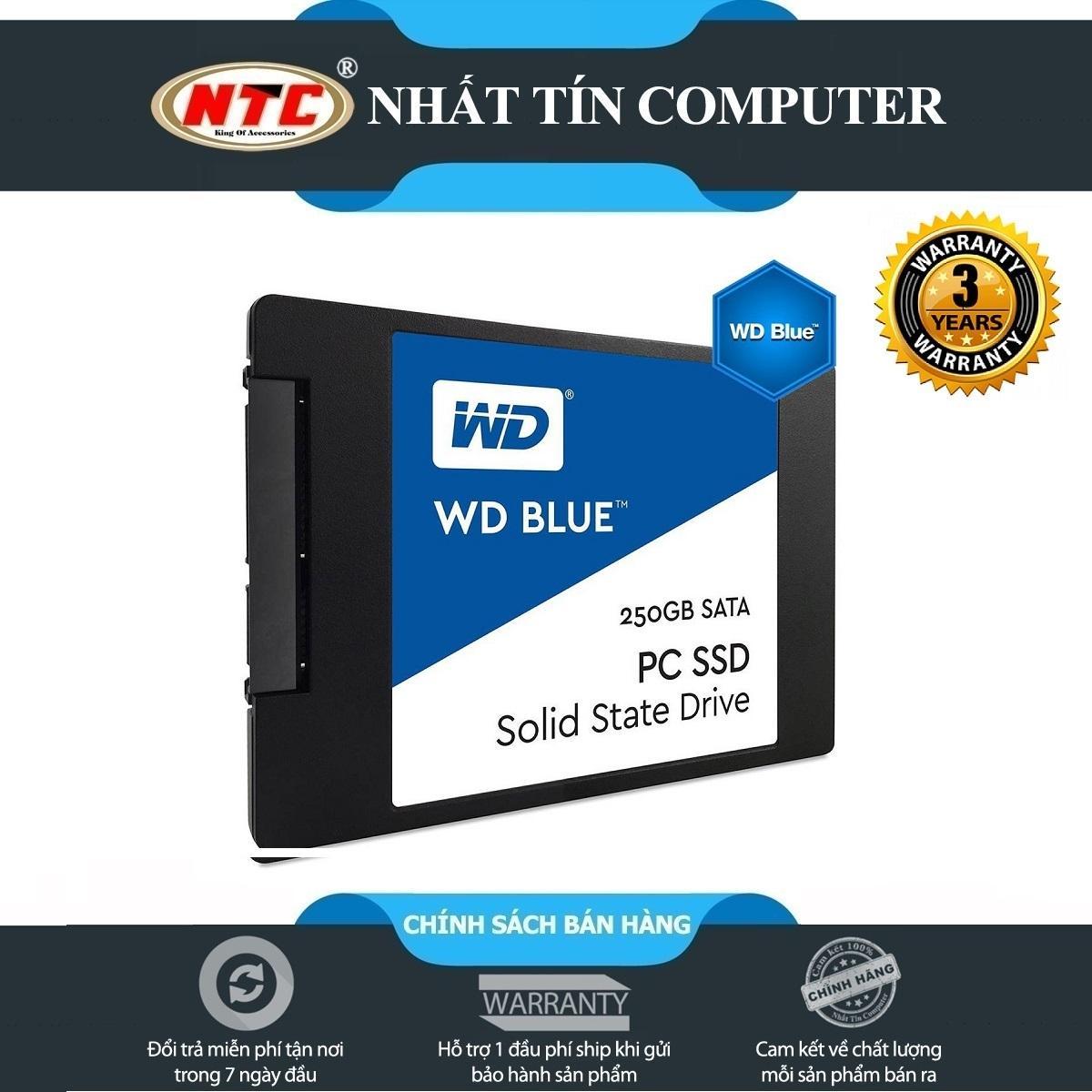 Ổ cứng SSD Western Digital Blue 3D-NAND SATA III 250GB R550MB/s W525MB/s (Xanh)