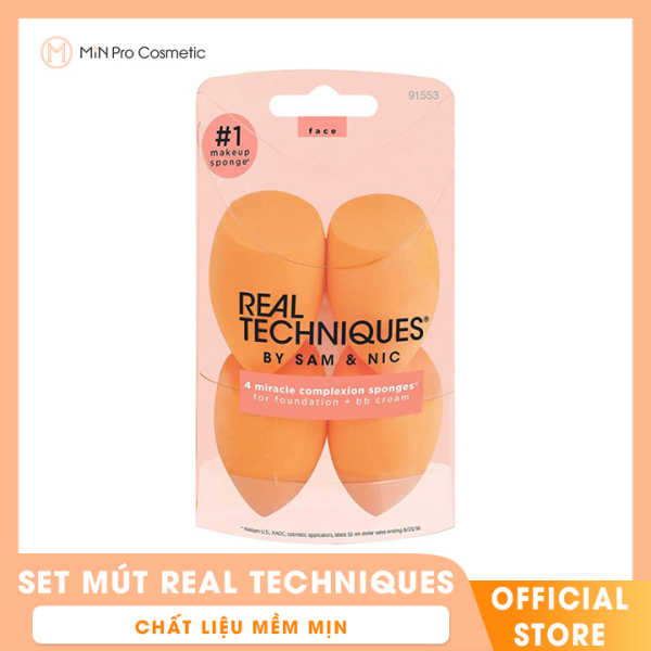 Set mút Trang Điểm Real Techniques By Sam & Nic Miracle Complexion Sponge