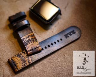 DÂY ĐỒNG HỒ DA BÒ THẬT BẢN CAO CẤP - DA BÒ THUỘC BẰNG THẢO MỘC - RAM SIMPLE TRỐNG ĐỒNG MAHOGANY- CHÍNH HÃNG RAM LEATHER (TẶNG KHÓA VÀ CÂY THAY DÂY) - Đủ size từ 18,20,22mm, Apple watch, Samsung, Orient, Amazfit, Pebble, Seiko thumbnail