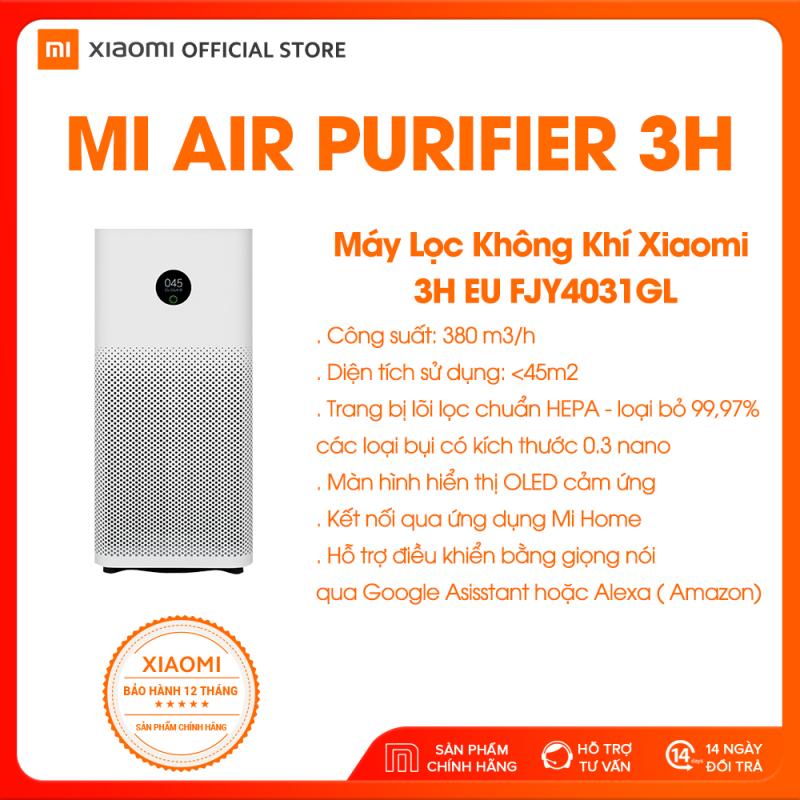 [XIAOMI OFFICIAL] Xiaomi Air Purifier 3H - Lọc không khí, lọc bụi mịn, khử mùi, diệt khuẩn, Bảo vệ sức khỏe, Công suất 380m3/h, Diện tích 45m2 - Hàng chính hãng - BH 12 tháng