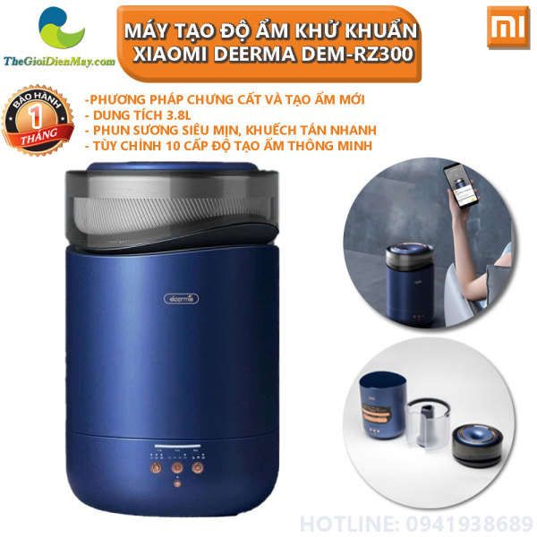 Máy tạo độ ẩm khử khuẩn Xiaomi Deerma DEM-RZ300 - Bảo hành 1 tháng - Shop Thế Giới Điện Máy