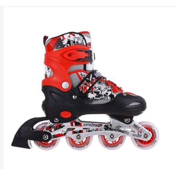 Mua [HÀNG CHUẨN] Giày trượt Patin trẻ em Long Feng 906 - Hồng, xanh, đỏ