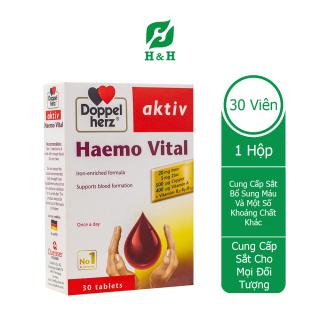 Doppelherz Haemo Vital 30 viên Bổ sung SẮT và các VITAMIN thiết yếu cho quá trình tạo máu thumbnail