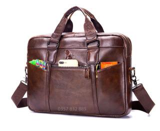 . Túi xách nam da bò công sở cao cấp phong cách Châu Âu - 91514 thumbnail
