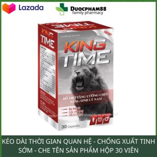 Viên uống tăng cường sinh lực phải mạnh KINGTIME kéo dài thời gian quan hệ hộp 30 viên che tên thumbnail