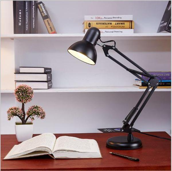 Đèn để bàn làm việc hai khớp nối Desk Lamp Eye Protection Clamp - Tặng kèm bóng led chống lóa cận