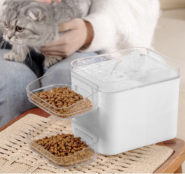 Máy lọc nước kèm bát ăn cho chó mèo PHIÊN BẢN CHỐNG CHÁY