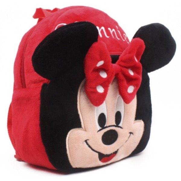 Balo Vải Bông Mickey Đỏ Cho Bé
