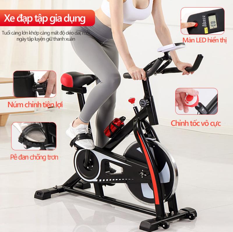Xe đạp tập thể dục Air bike thiết kế hoàn toàn mới ,Xe đạp tập gym tại nhà dụng cụ tập gym đạp xe tại nhà yên tĩnh tiện lợi nhỏ gọn  TopOne2020