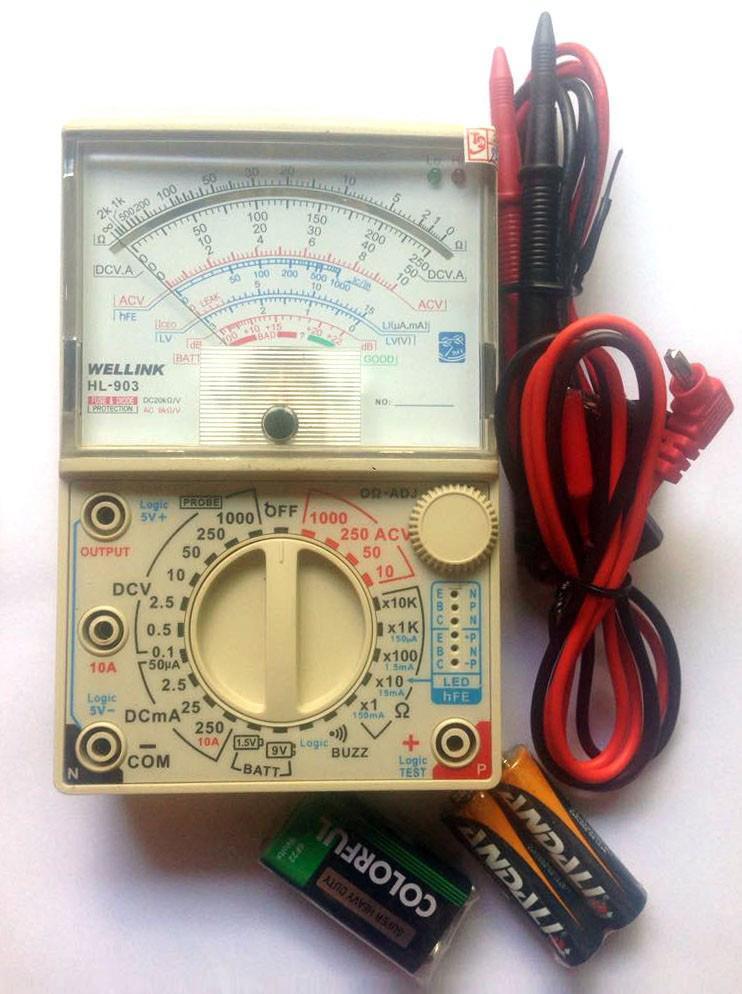 Đồng hồ vạn năng hiện kim WELLINK HL 903 công nghệ Nhật Bản, sx tại Đài Loan Tặng pin - ABG shop