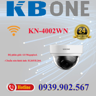 Camera IP Dome hồng ngoại không dây 4.0 Megapixel KBVISION KBONE KN-4002WN thumbnail