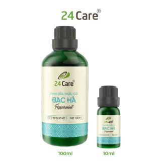 Tinh dầu Bạc Hà 24Care - khử trùng, khử mùi, thơm phòng, thư giãn, sảng khoái thumbnail