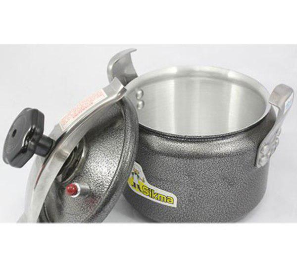 Nồi áp suất dùng cho bếp ga , bếp điện và bếp hồng ngoại Sikma 22cm SK-22 5L - Nồi ấpp suất cơ dung tích 5 lít