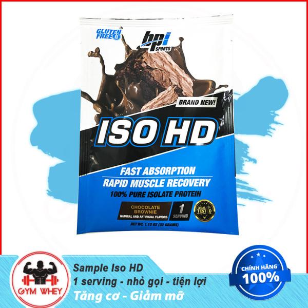 [Lấy mã giảm thêm 30%]Gói Thử Sample Sữa Tăng Cơ Bắp BPI SPORTS ISO HD 100% Whey Isolate 1 Lần Dùng (32gram)