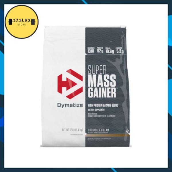 [CHÍNH HÃNG] Sữa Tăng Cân Super Mass Gainer Dymatize 12 LBS (5,4kg)- Tăng cân cho người gầy, khó lên cân