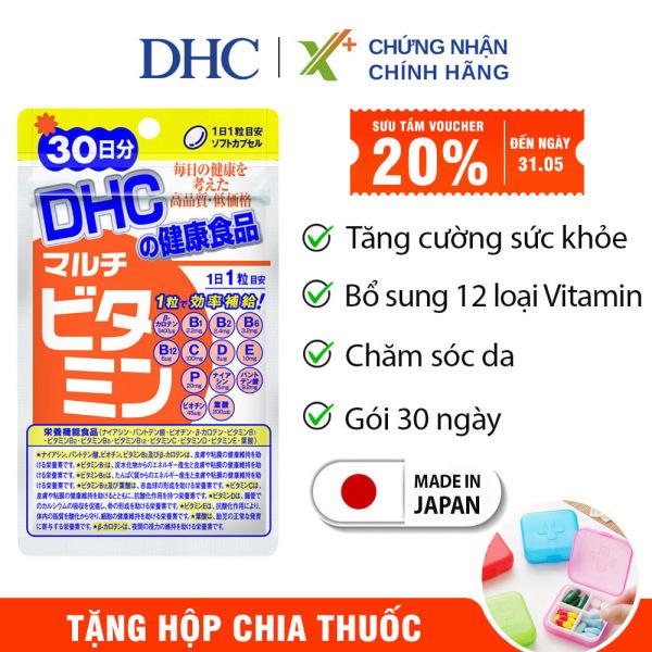 Viên uống Vitamin tổng hợp DHC Nhật Bản Multil Vitamins thực phẩm chức năng bổ sung 12 vitamin thiết yếu hàng ngày nâng cao sức khỏe, làm đẹp da 30 ngày XP-DHC-MUL30 cao cấp
