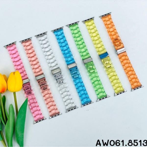 Dây đeo Apple Watch nhựa trong đủ màu size 38/40 42/44mm