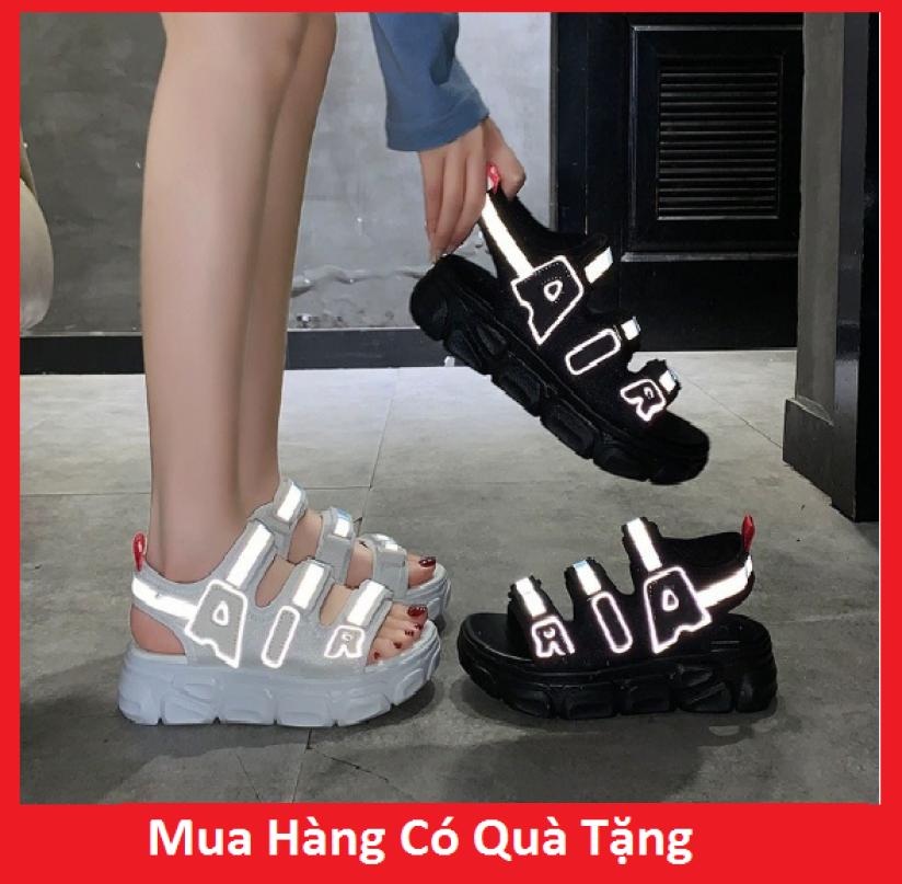 Sandal Nữ 3 Quai Viền Phản Quang, Đế Xịn 3cm, Kiểu Dáng Hàn Quốc-Hot trend 2 Màu Ban Chạy 2020- Hàng Nhập Xịn giá rẻ