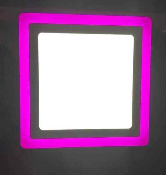 Đèn led nổi ốp trần 24w vuông 2 màu 3 chế độ ánh sáng trắng hồng